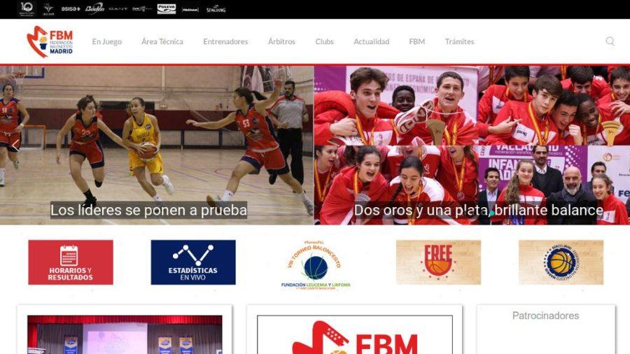 Portal Web de la Federación de Baloncesto de Madrid